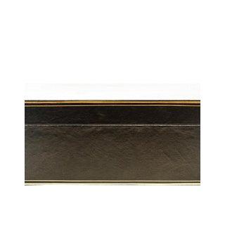 "Lawrence & Scott Black Regalia Leather Box (16.5"") For Sale"