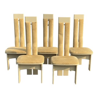 Postmodern Costantini Pietro Upholstered Dining Chairs - Set of 5 For Sale