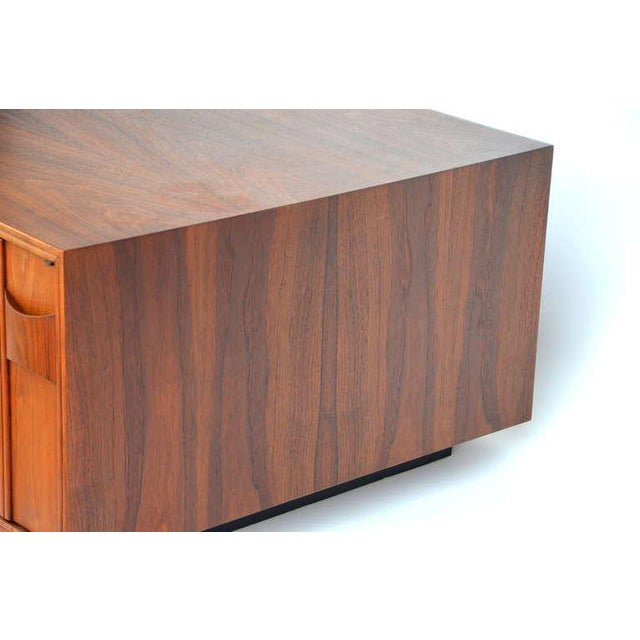 Walnut Rare Carved Walnut Cabinet by Brown Saltman For Sale - Image 7 of 10