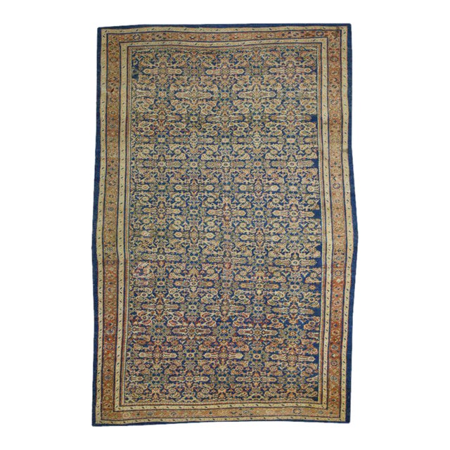 Late 19th Century Antique Mahal Ziegler Sultanabad Rug with Modern Style For Sale