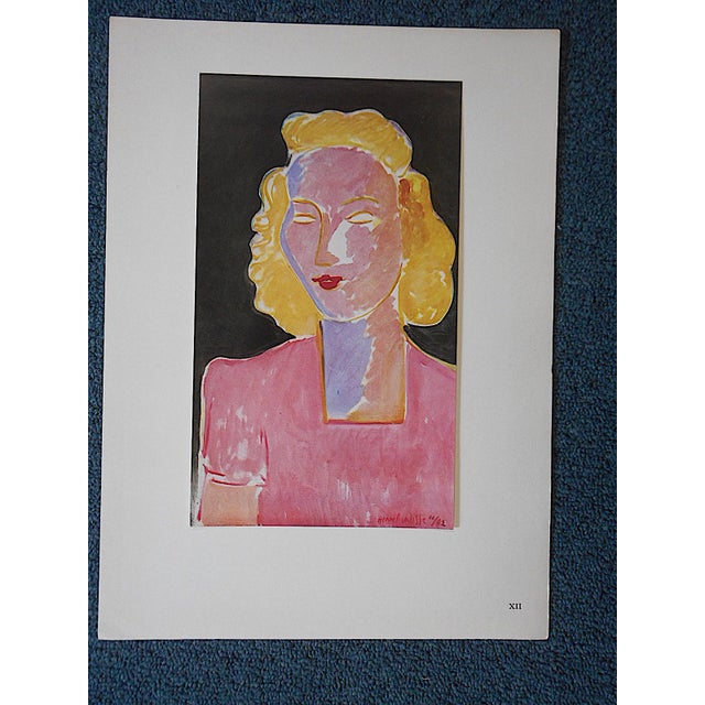 This iconic modernist image by the world famous artist Henri Matisse (France 1869-1954) is a lithograph (offset) from a...