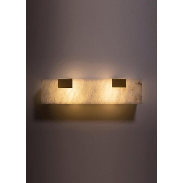 Modern Contemporary 003-2c Sconce in Brass by Orphan Work For Sale In New York - Image 6 of 9