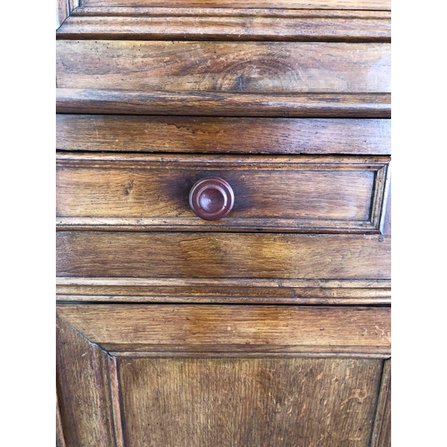 French 19th Century Walnut Deux Corps Buffet Cabinet For Sale - Image 10 of 13