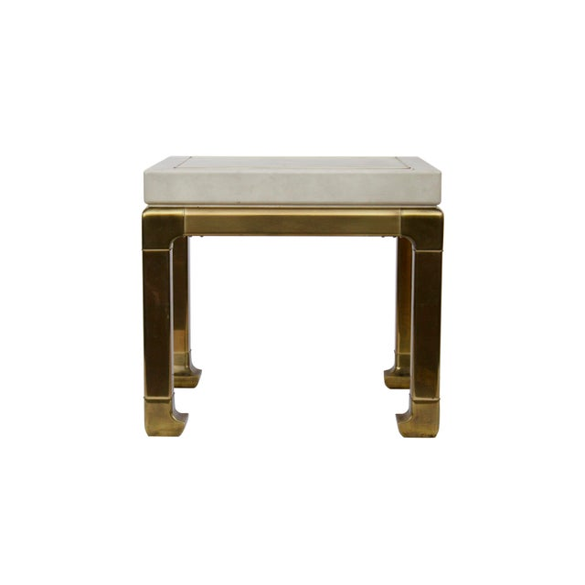 Mastercraft Ming Style Brass and Ivory End Table by Mastercraft For Sale - Image 4 of 11