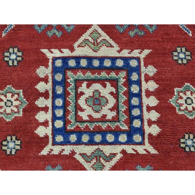 Wool Handmade Tribal Design Kazak Runner- 2′8″ × 9′9″ For Sale - Image 9 of 12