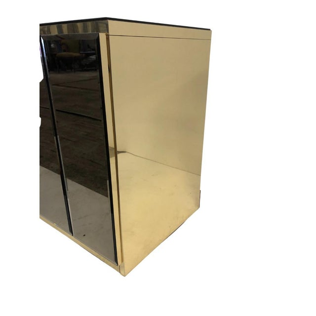 American 1980s Ello Smoky Mirrored Credenza For Sale - Image 3 of 5