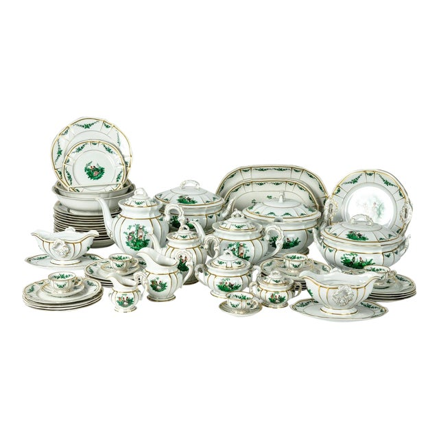 Antique English Dinnerware Service - Set of 67 For Sale