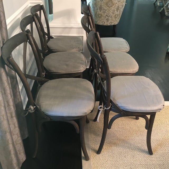 Thonet Styled Restoration Hardware Dining Chairs-Set of 6 For Sale - Image 9 of 13