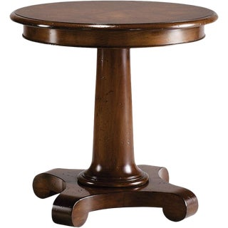 Baker Milling Road Collection Mahogany Pedestal Side Table For Sale