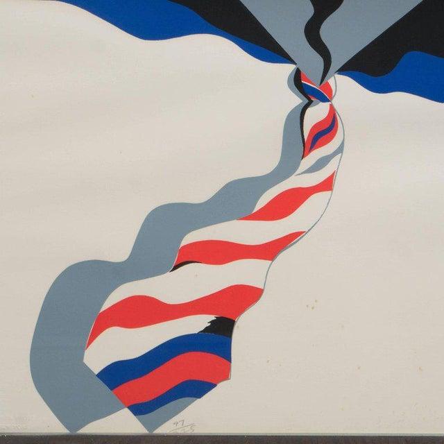 Mid-Century Modern Pop Art Print by Allen Jones in Black & Electric Blue/Red - Image 5 of 10
