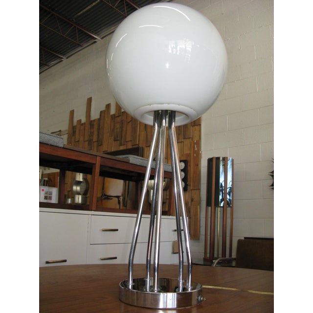 Mid-Century Modern Chrome Table Lamp - Image 4 of 11