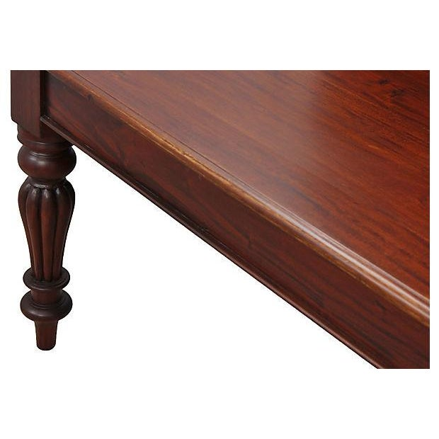 Hollywood Regency Regency Mahogany Dining Table For Sale - Image 3 of 5