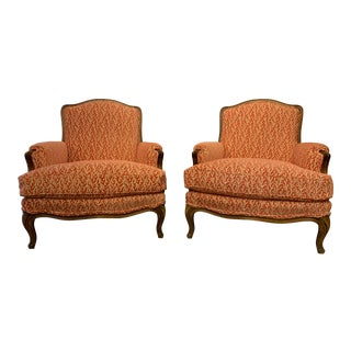 Louis XV Style Bergères a Pair For Sale