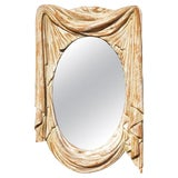 Image of Mid 20th Century Italian Mid-Century Modern Carved Wall Mirror For Sale