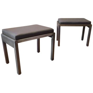 1930s Vintage Norman Bel Geddes for Simmons Art Deco Ottomans- A Pair For Sale