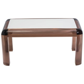 Chunky Lucite Side or Cocktail Table For Sale