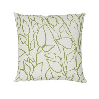 Contemporary Schumacher Solandra Vine Pillow in Leaf For Sale