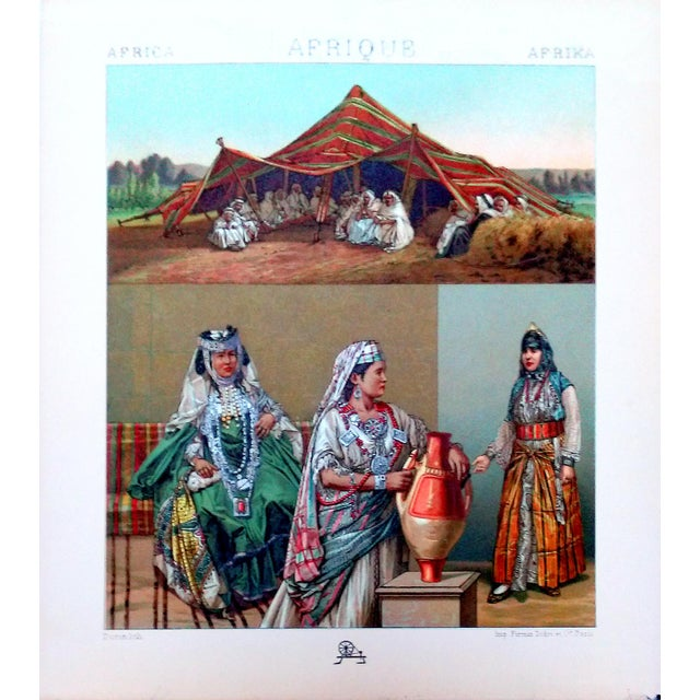 1888 Algerian Tent & Arab Nomad Lithograph For Sale