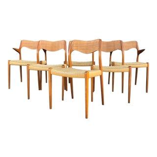 Niels O. Møller Dining Chairs Model 71 by j.l Møllers Møbelfabrik in Denmark For Sale