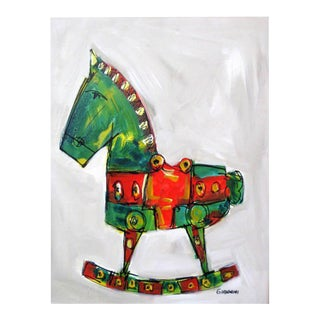 Claudio Giannini Rocking Horse Painting For Sale
