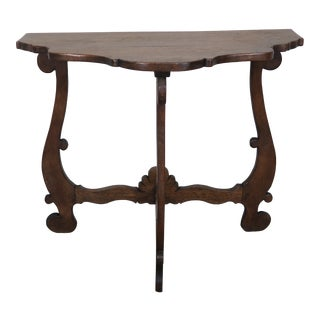 Spanish Walnut Finished Console C. 1930's For Sale