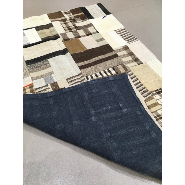 "Boho Chic Boho Rustic Patchwork Rug - 3'2"" X 4'9"" For Sale - Image 3 of 4"