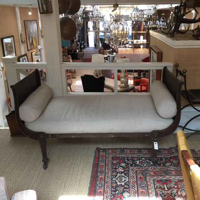 French Metal & Linen Daybed - Image 2 of 6