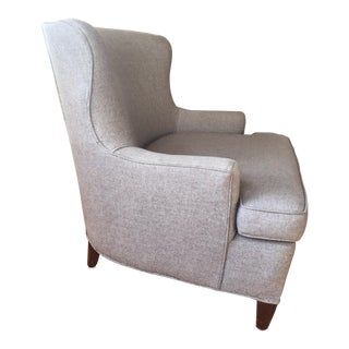 Vintage Mod Custom Wool Upholstery Club Chair For Sale