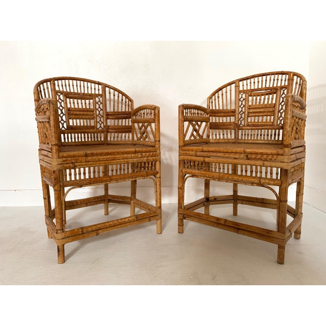Pair of 1970s Bamboo Side Chairs For Sale - Image 11 of 11