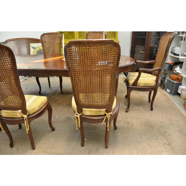 Set Of 6 Dining Chairs: Vintage Double Cane Back Dining Chairs - Set Of 6