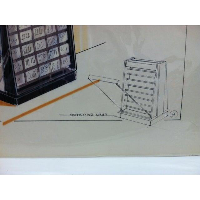 "American 1980s ""Pierre Cardin - Paris - New York"" Displayco East Original Advertising Drawing For Sale - Image 3 of 5"