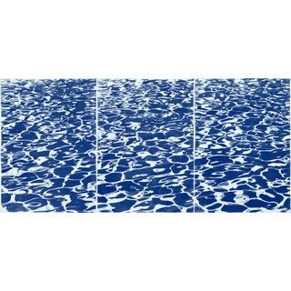 2020 Kind of Cyan Coastal Cyanotype on Watercolor Paper, Fresh California Pool Patterns For Sale