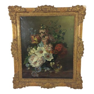 19th Century British Floral Still Life by A. Wilson For Sale