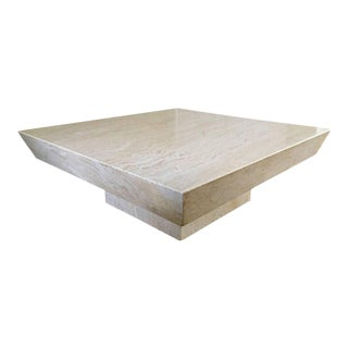 Italian Travertine Cocktail Table
