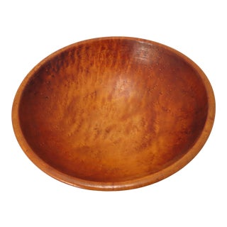 Antique American Hand Made Birds Eye Maple Kitchen Bowl For Sale
