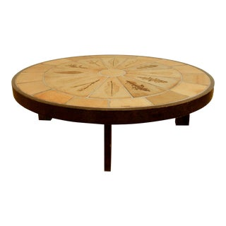Herbier Coffee Table by Roger Capron - 1950s Mid-Century Modern For Sale
