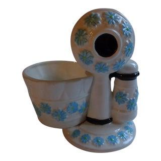 Mid-Century Ceramic Telephone Pencil Cup For Sale