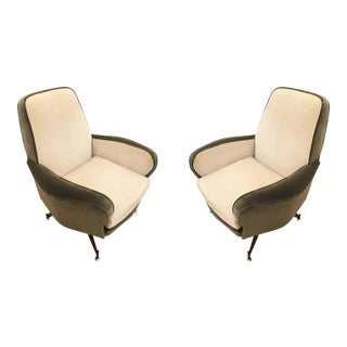 Pair of Lounge Chairs Attributed to Formanova, Italy, 1960's For Sale