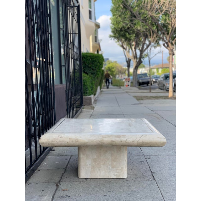 Tessellated Stone Tile Coffee Table For Sale - Image 9 of 12