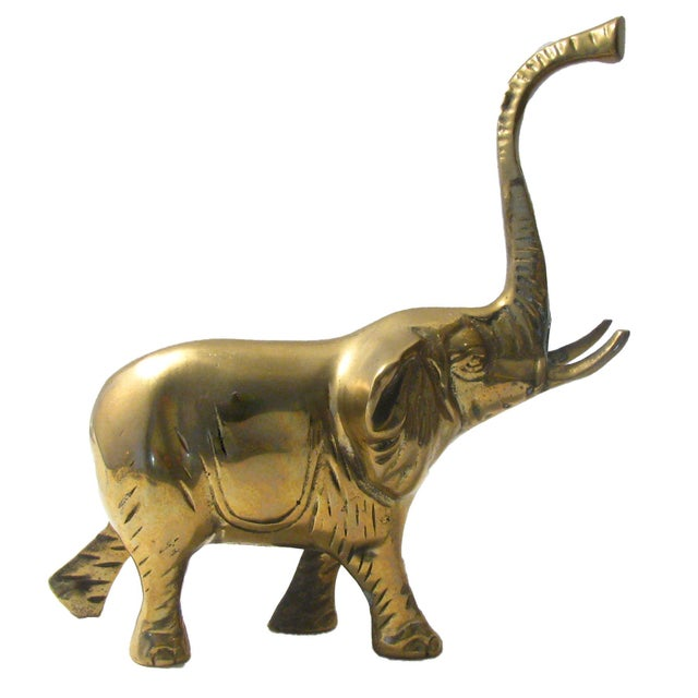 African A Mid-Century Brass Menagerie, S/5 For Sale - Image 3 of 8