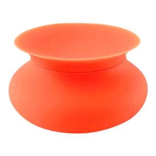 Modern Orange Silicone Vessel For Sale