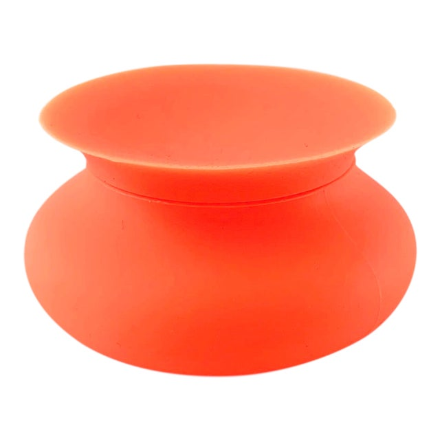 Modern Orange Silicone Vessel For Sale