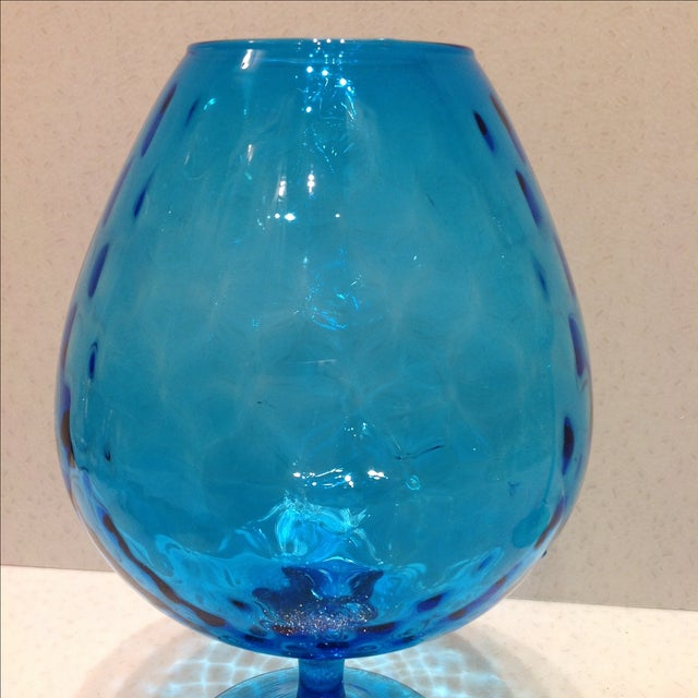 Blue Optic Glass Murano Vases - A Pair - Image 9 of 11