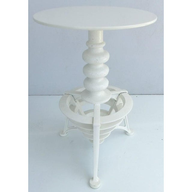 20th Century Industrial Cast Iron Interchangeable Stools to Tables For Sale In Miami - Image 6 of 10