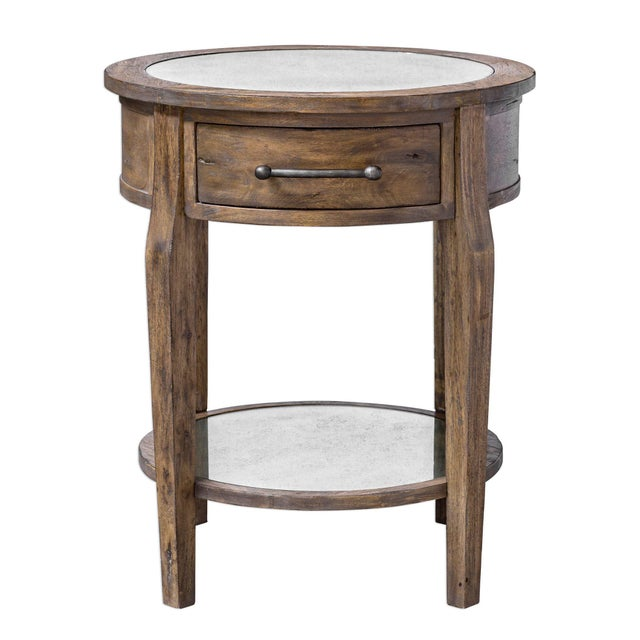 Rustic Lamp Table For Sale - Image 4 of 5