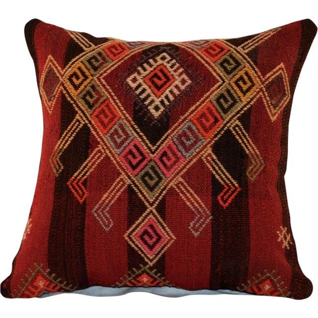 Vintage Handmade Wool Decorative Boho Pillow - Image 1 of 7