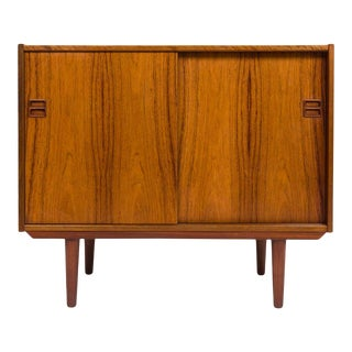 Vintage Danish Mid-Century Two Door Media Cabinet For Sale