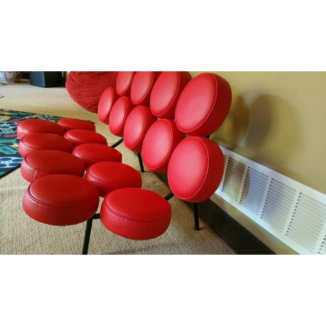 France & Son Red Marshmallow Sofa - Image 3 of 5