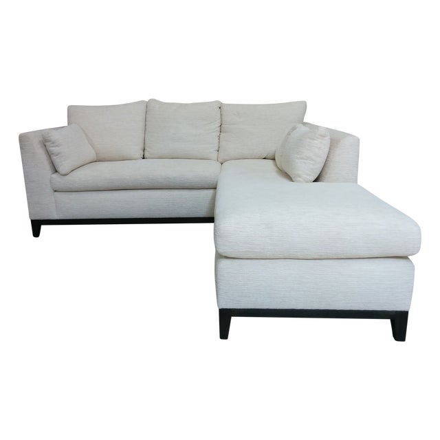 Custom Contemporary Sectional Sofa Off-White - Image 1 of 4