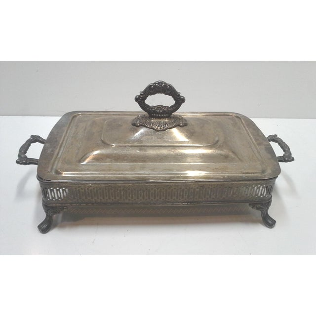 Silver-plated Ornate Baroque Lidded Serving Dish - Image 4 of 8
